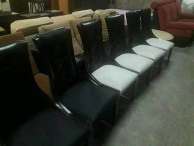 Kerusi makan 6kerusi kayu solid