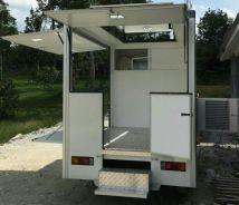 Mobile cafe food truck