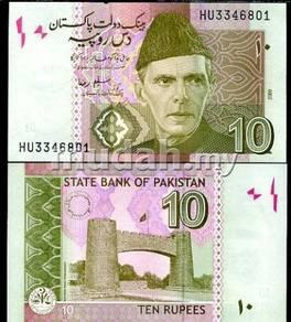 Pakistan 10 rupees 2009-2012 p new unc