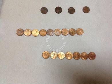 1 sen Malaysian coins