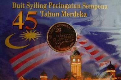 Coin Card 45th Merdeka 2002