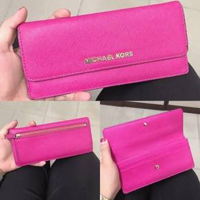 Michael Kors Flat Wallet-Fuchsia Pink