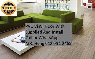 NEW Made Vinyl Floor with Install jkl45