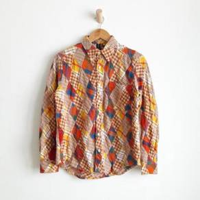 Road runner patchwork diamond multicolor shirt