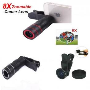 Universal Clip Camera Lens And Telescope 8X Zoom