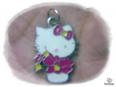 ABPSS-H006 Hello Kitty Pendant Necklace - Maroon