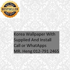 PVC Vinyl Wall paper with Expert Install hil75