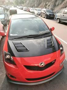 Toyota vios carbon bonnet cf hood bodykit 2008