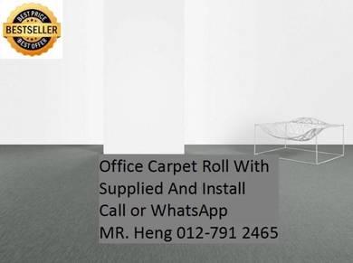 Modern Plain Design Carpet Roll With Install 76TR
