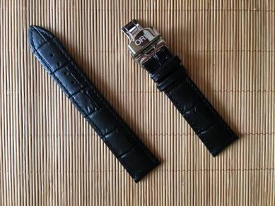 ORIS 20mm Black Crocodile Leather Watch Strap