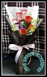 Bouquet chocolat + fake flower