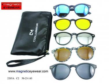Sunglasses magnetic clip on 6 in 1 2205 CM