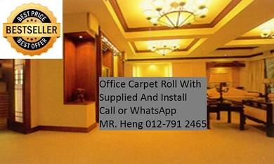 Classic Plain Design Carpet Roll with Install 42NP