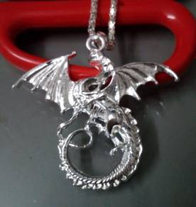 ABPS9-D004 925 Silver Flying Dragon Penda Necklace