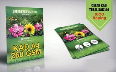 Kami Print Kad Tebal A4 1000 pcs 260gsm