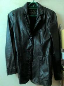 Pure Leather Blazer Jacket