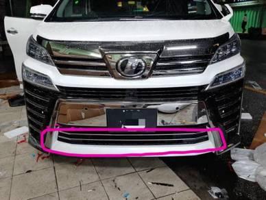 Toyota vellfire 30 2018 front bumper chrome 2pcs