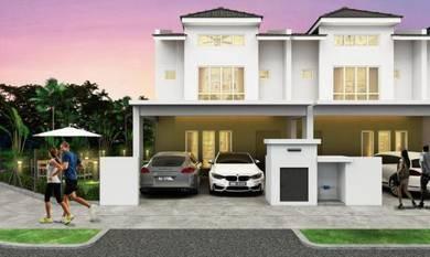 New double storey next to Setia Alam(6KM) freehold w 100% loan