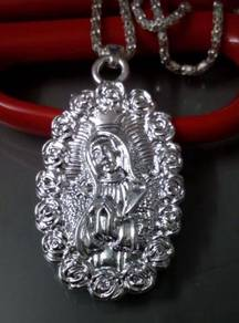 ABPS9-J001 925 Silver Jesus St. Mary Necklace