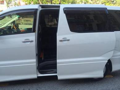 Toyota alphard 2000-2006 install power door