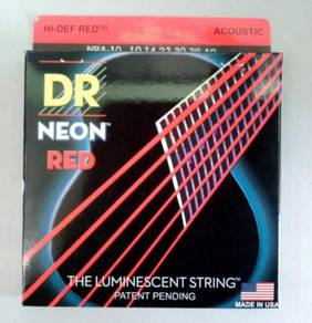 Dr.Neon Glow Acoustic Guitar String (Red)