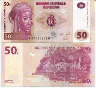 Congo 50 francs 2013 p 97 new sign unc