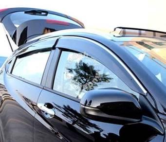 Honda city injection door visor with chrome lining