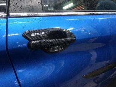 Perodua aruz door handle inner bowl cover CARBON