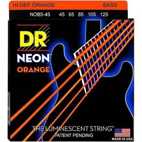 Dr.Neon Glow Bass Guitar 5 String (Orange)