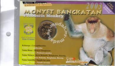 Animal coin card Series Monyet Bangkatan