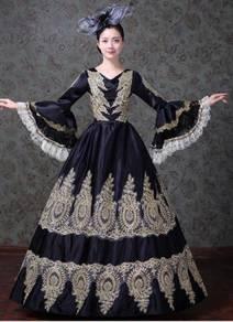 Black Gown Dress Wedding Bridal RBMWD0138