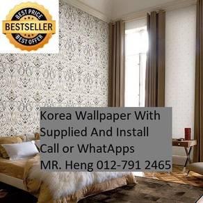 PVC Vinyl Wall paper with Expert Install vik75