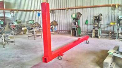 Accident vehicle chassis puller / Tarik casis