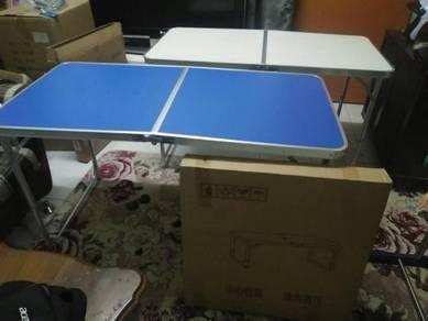 Meja lipat 4x2 baru dengan post