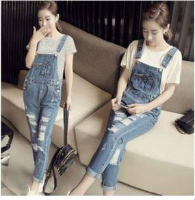 5659 Korean Casual Overall Jeans (Size M)