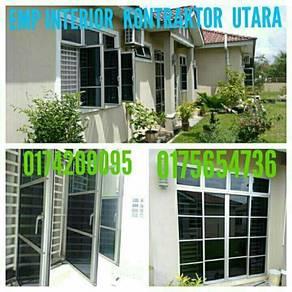 SUPPLY DAN INSTALL tinted rumah UTARA