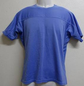 UNIQLO Baju T-shirt Polyester biru saiz M