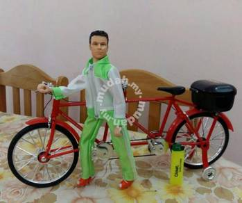 Bicycle 2 seats Olskool Basikal Toy Figure