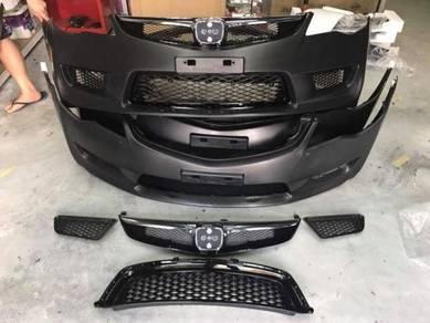 Honda civic fd type r front bumper bodykit pp 4