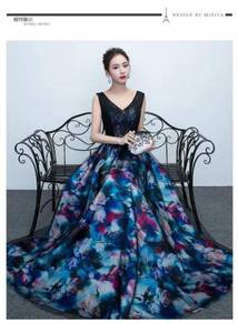 Floral wedding bridesmaid dinner prom dress RBP031