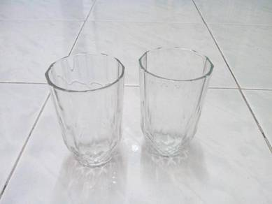 Glass for drinks with crystal design set of 2