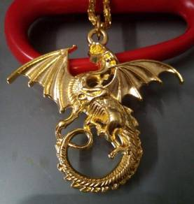 ABPGF-D010 Gold Filled Flying Dragon Pendant Neckl