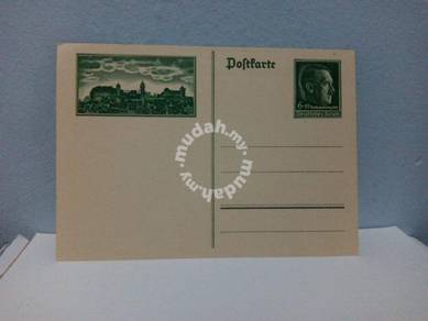 1938 Germany Postal Card, Hitler