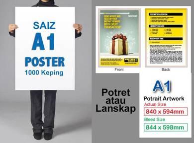 Kami Cetak Poster Saiz A1 - 500 Keping