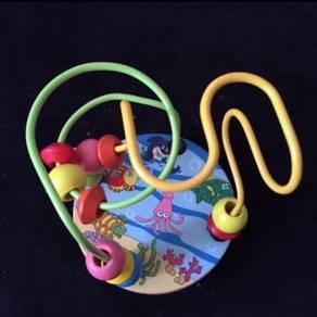 Baby wooden multi-color Mini around the bead