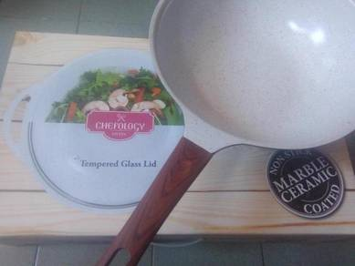 Chefology Swiss branded 32cm Wok complete new set