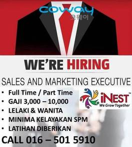 Coway sale executive & sale manager (shah alam)