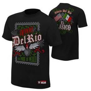 WWE WWF T Shirt (Delrio) Baju Wrestling Gusti
