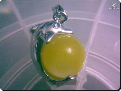 ABPWG-D005 Nice Ball Dolphin WG Necklace - Yellow