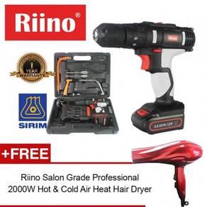 Riino 14.4V 3in1 Cordless Impact Drill Set